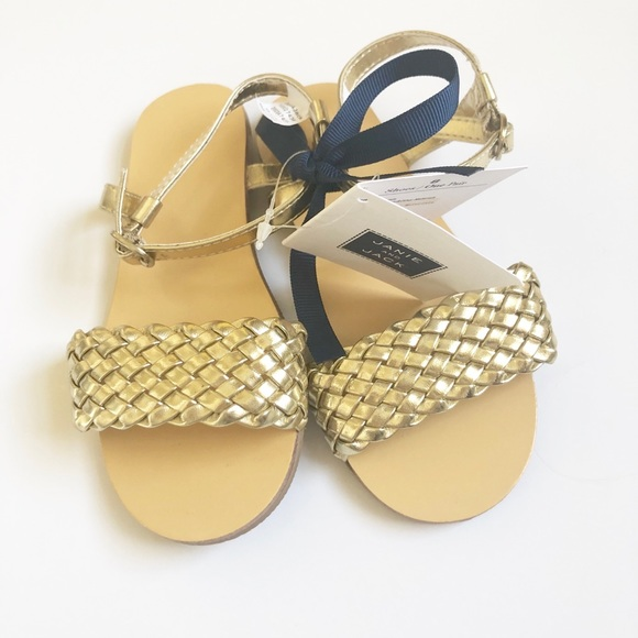 Janie and Jack Other - NWTs gold sandals